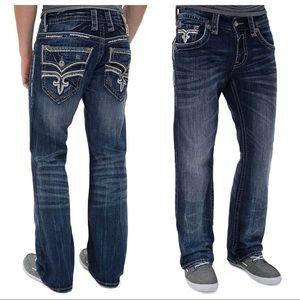 Rock Revival Men's Dysons Slim Boot Jeans 34 X 33
